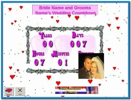 Wedding countdown clock screensaver   Download 535x407