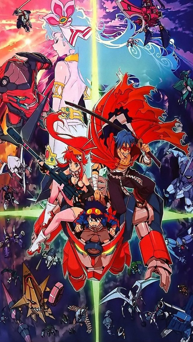 Gurren lagann iphone wallpaper wallpapersafari - Gurren lagann wallpaper ...
