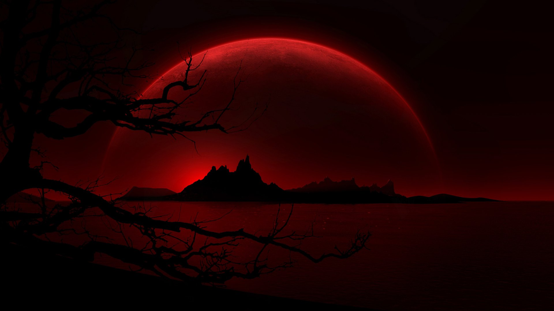 Blood Moon HD Wallpaper - WallpaperSafari