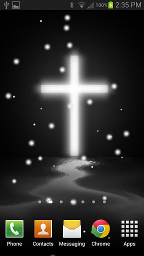 stars and a gorgeous cross background This cross live wallpaper 288x512