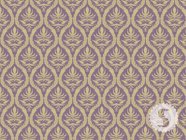 gold purple damask removable wallpaper for tenants like me 736x552