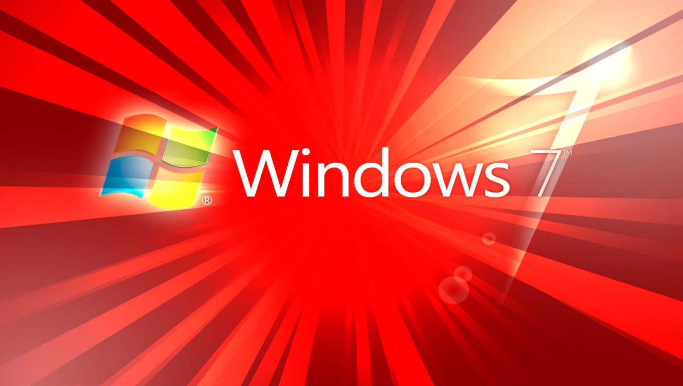 3d Wallpapers Windows 7 Red Background Wallpaper HD 10112 1920x1200 1360x768