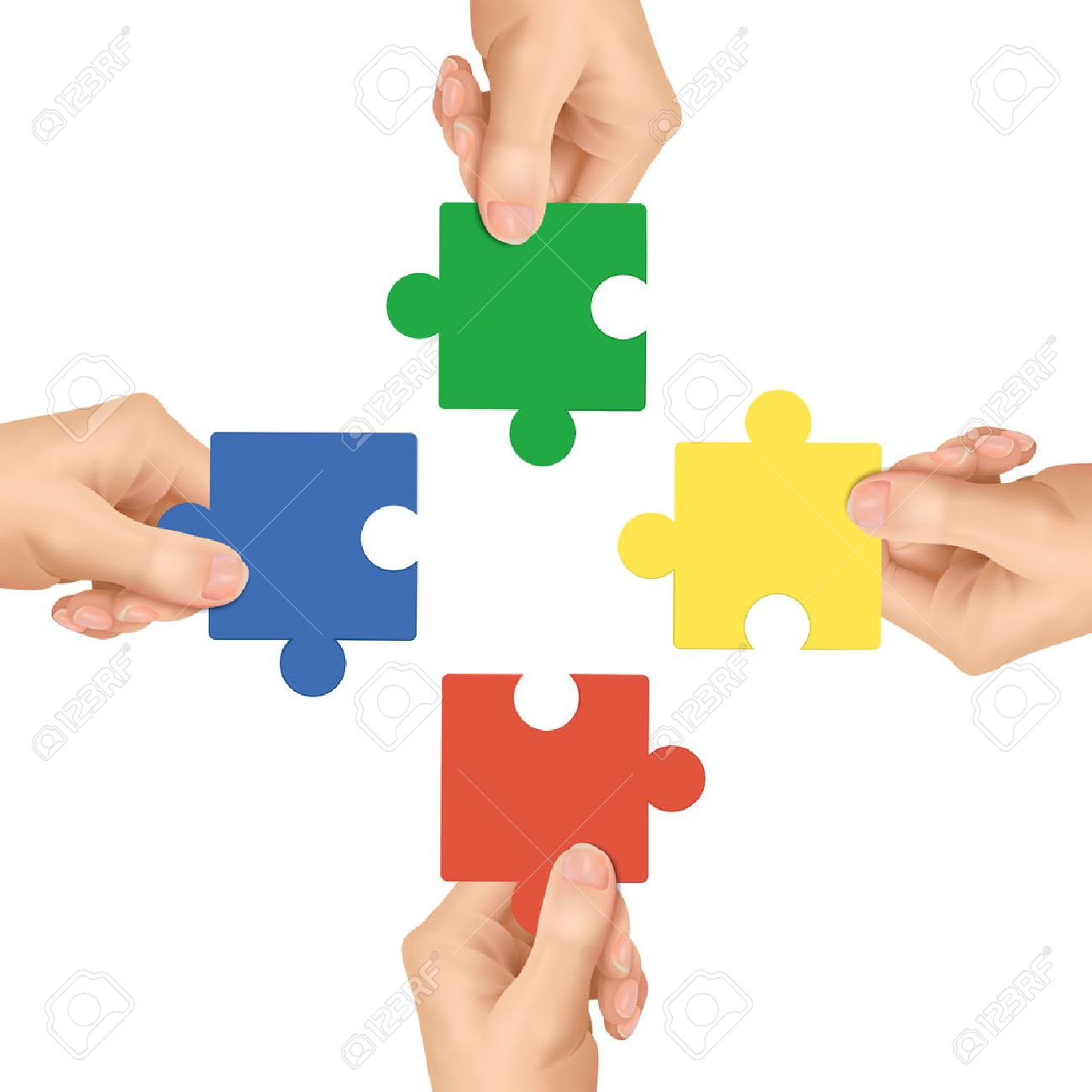 Cooperation Concept Hands Holding Jigsaw Pieces Over White 1300x1300