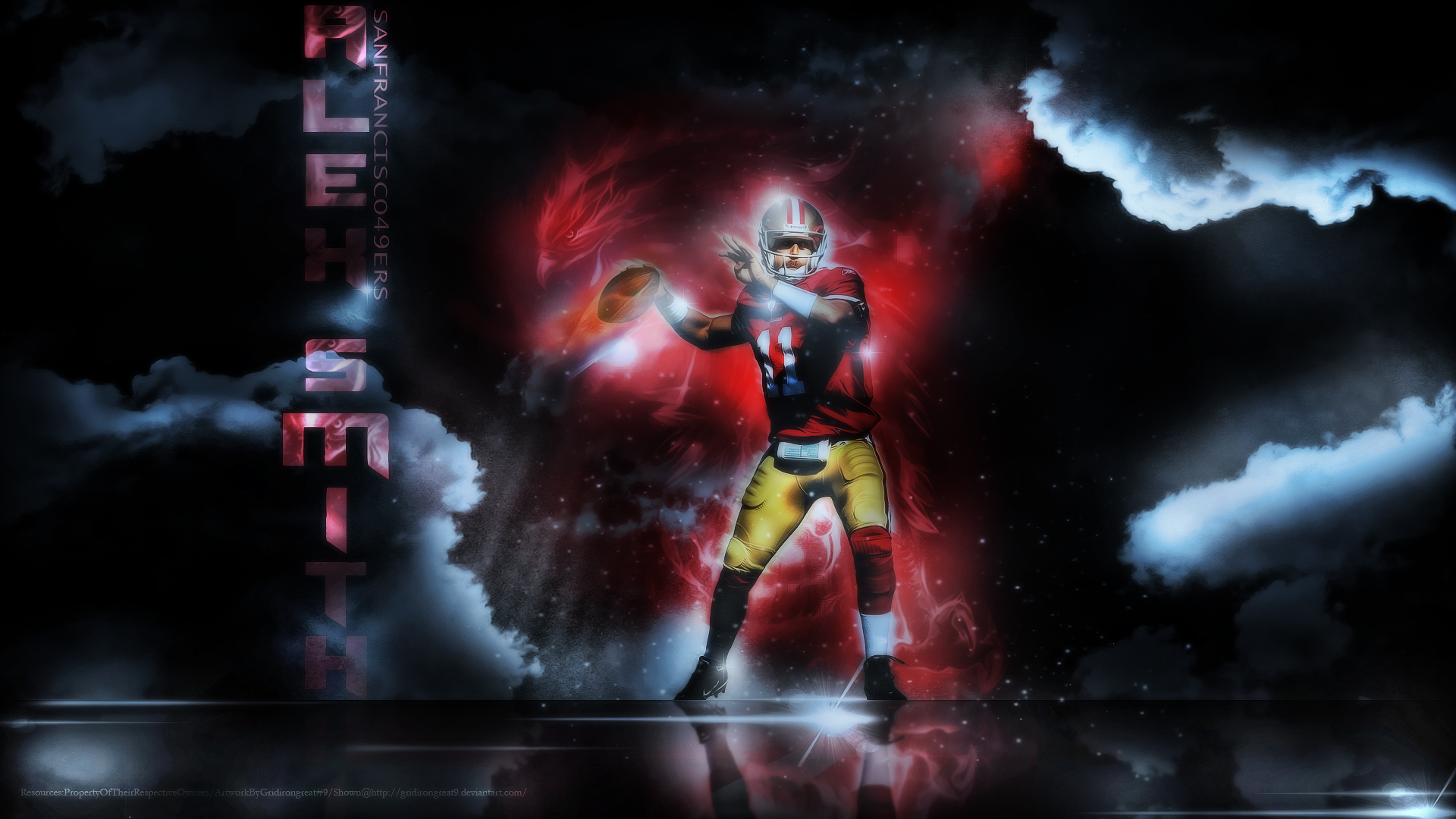 49ers Alex Smith Wallpaper in HD Wide High Definition Wallpapers For 1920x1080
