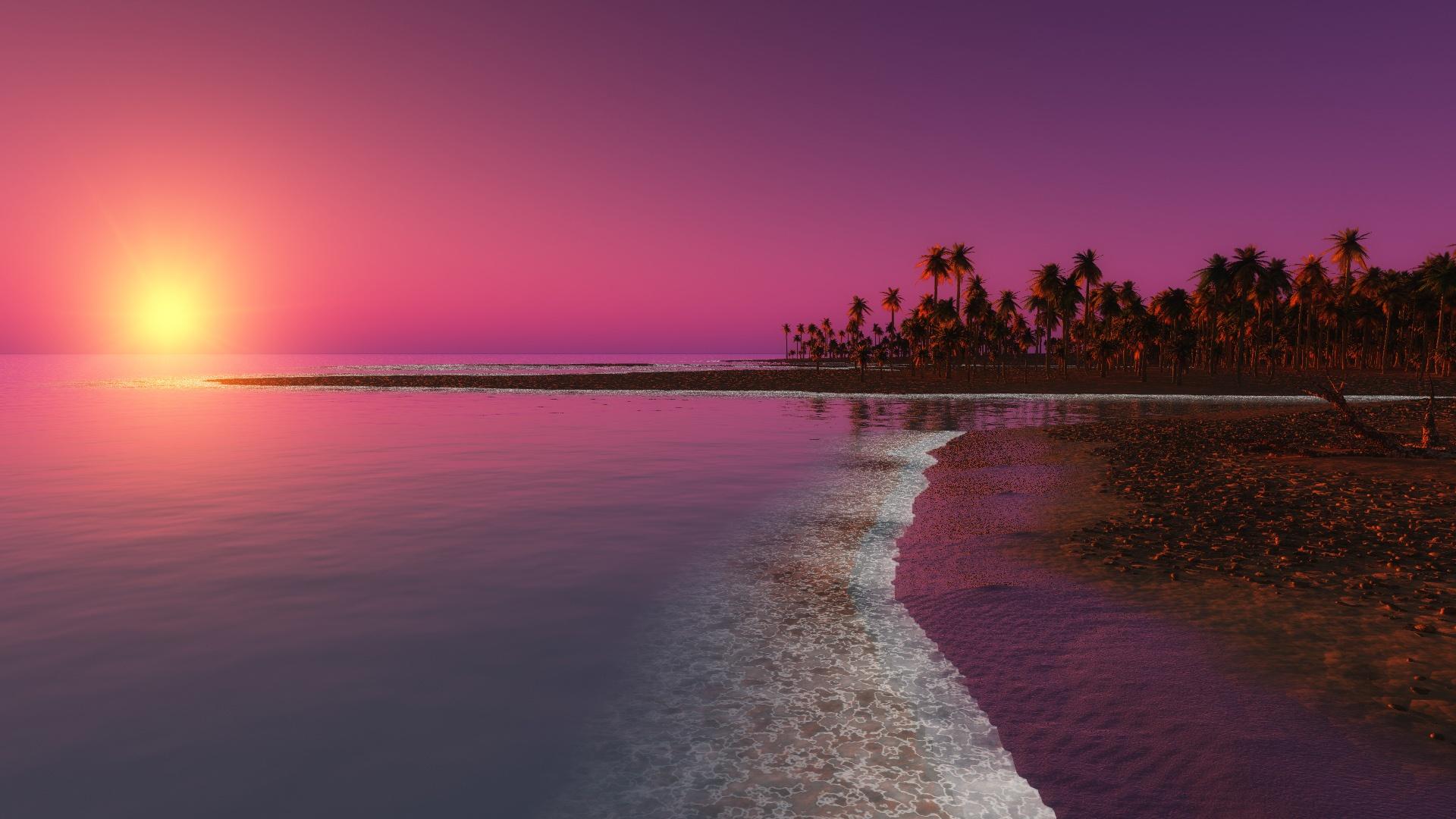 Hot Pink Sunset Wallpaper Hot pink sunse 1920x1080