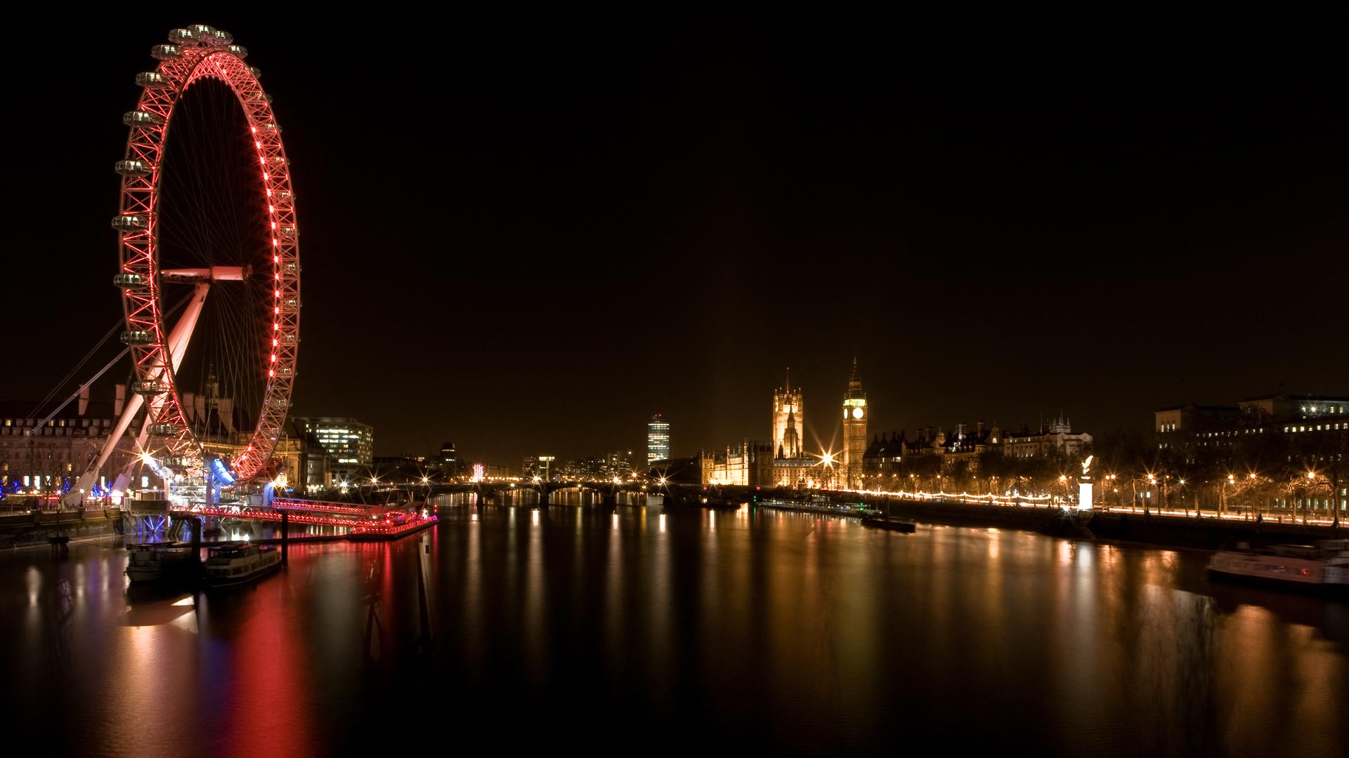 Night London City Wallpaper 1920x1080