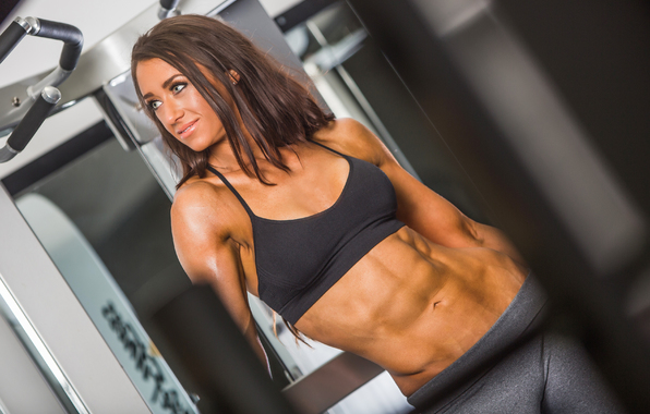 Wallpaper fitness model abs pose wallpapers girls   download 596x380