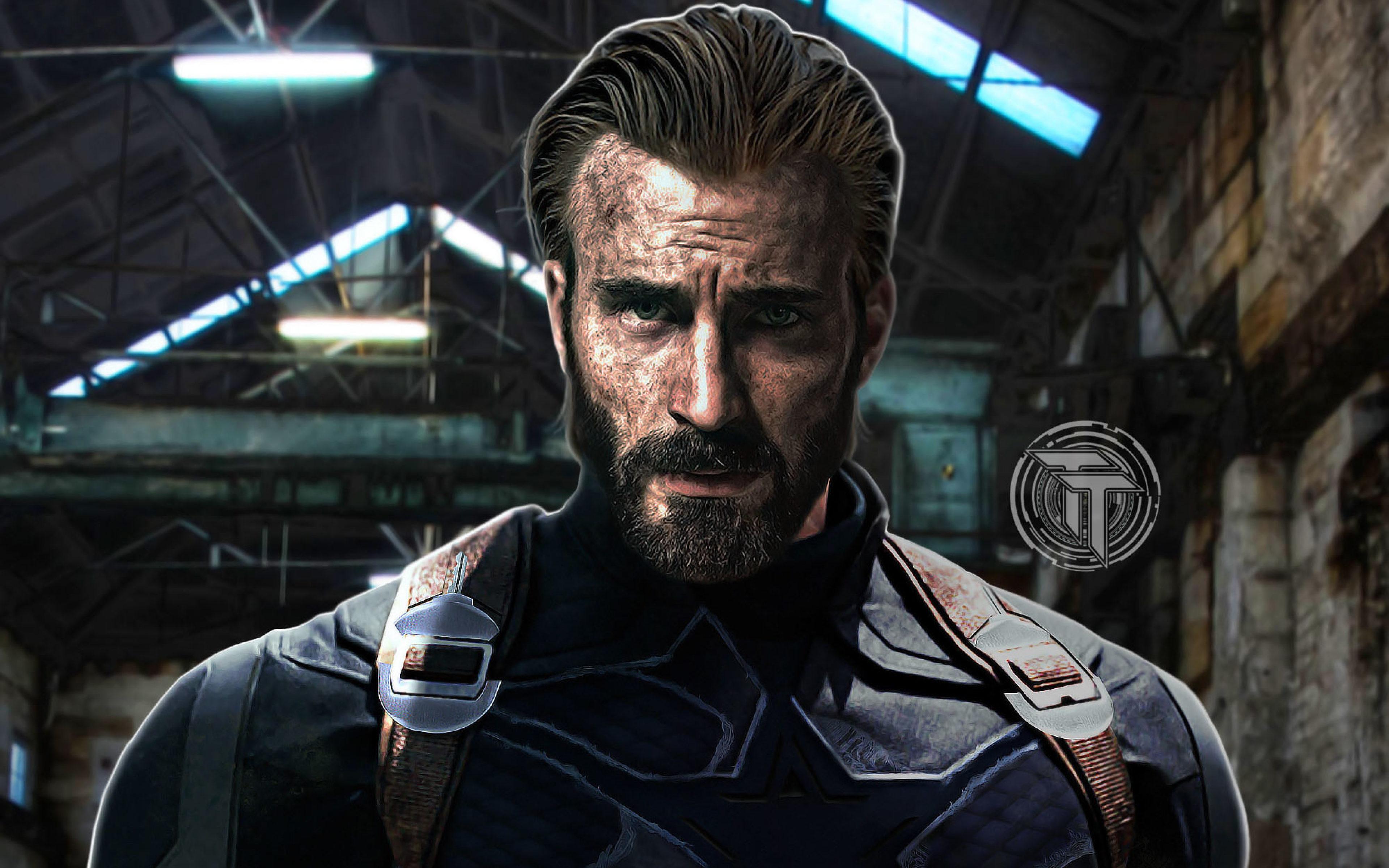 3840x2400 Captain America Beard Look In Infinity War 4K 3840x2400 3839x2400