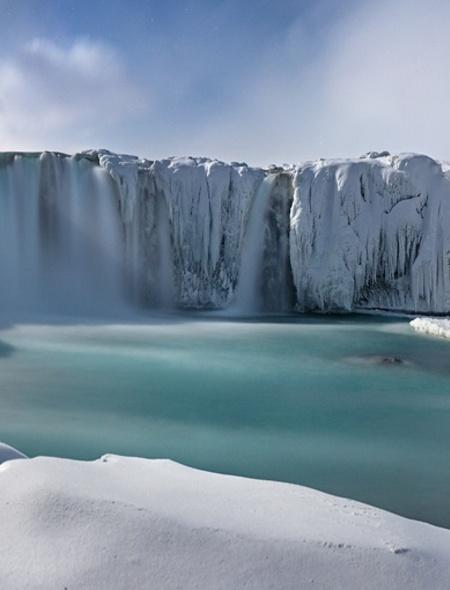 Frozen Waterfall Wallpaper for Amazon Kindle Fire HD 7 450x590