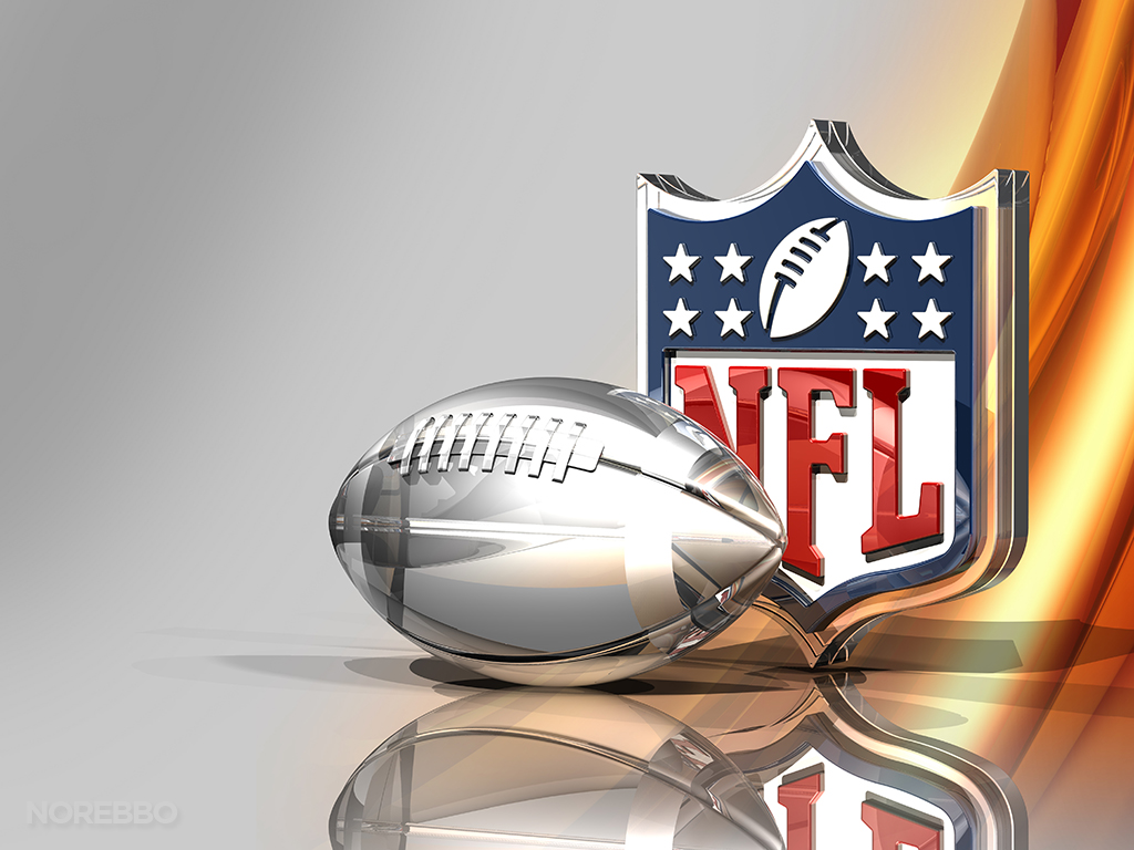 3d nfl logo over a bronze silk background 1024x768