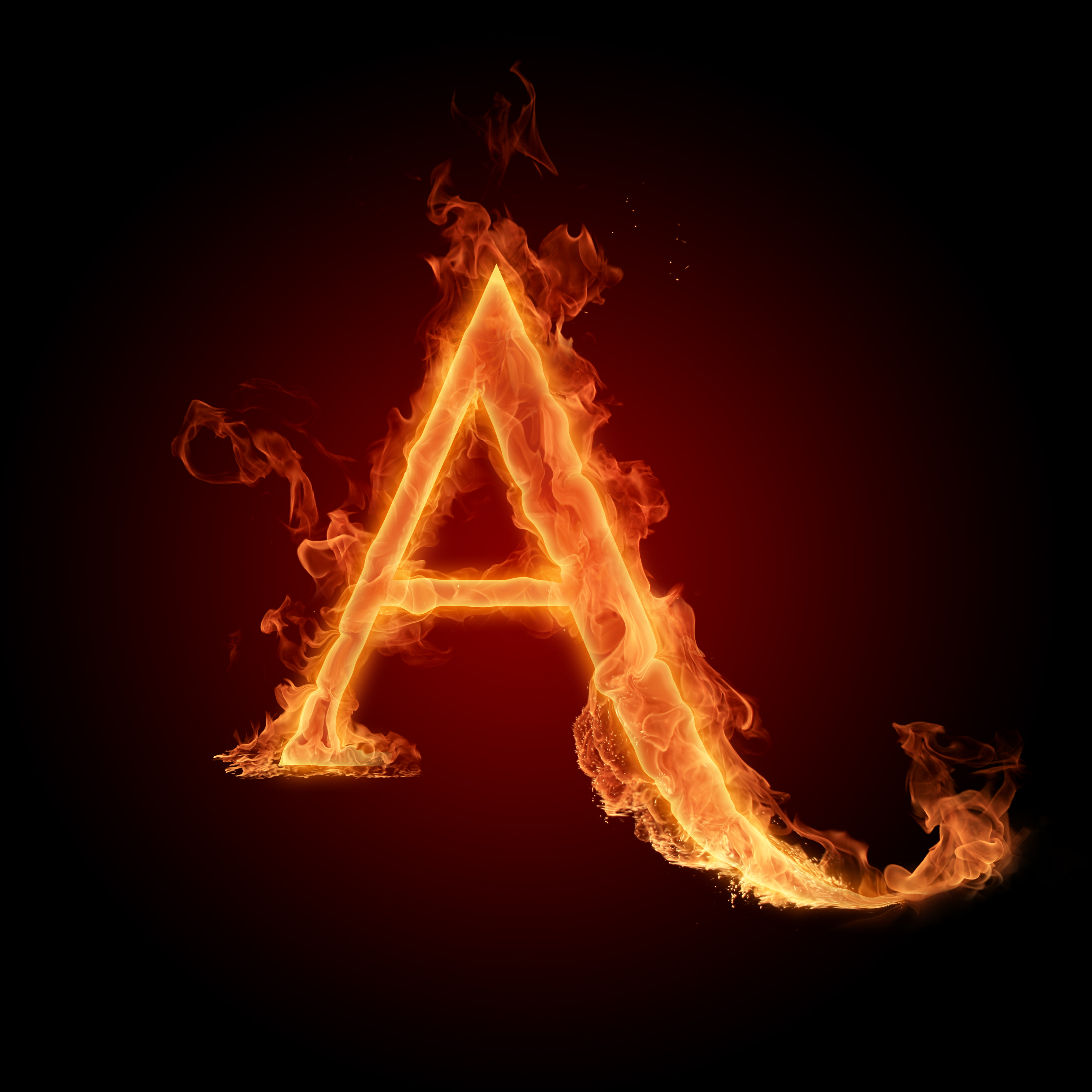 Fire Letters HD A F   Photo 1 of 6 phombocom 3000x3000