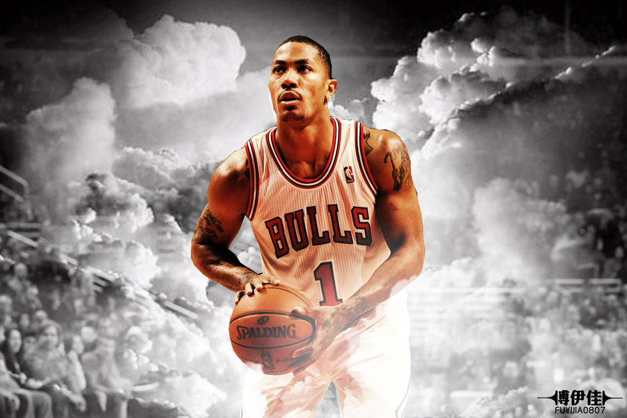 derrick rose chicago bulls by ElaineFu 900x600
