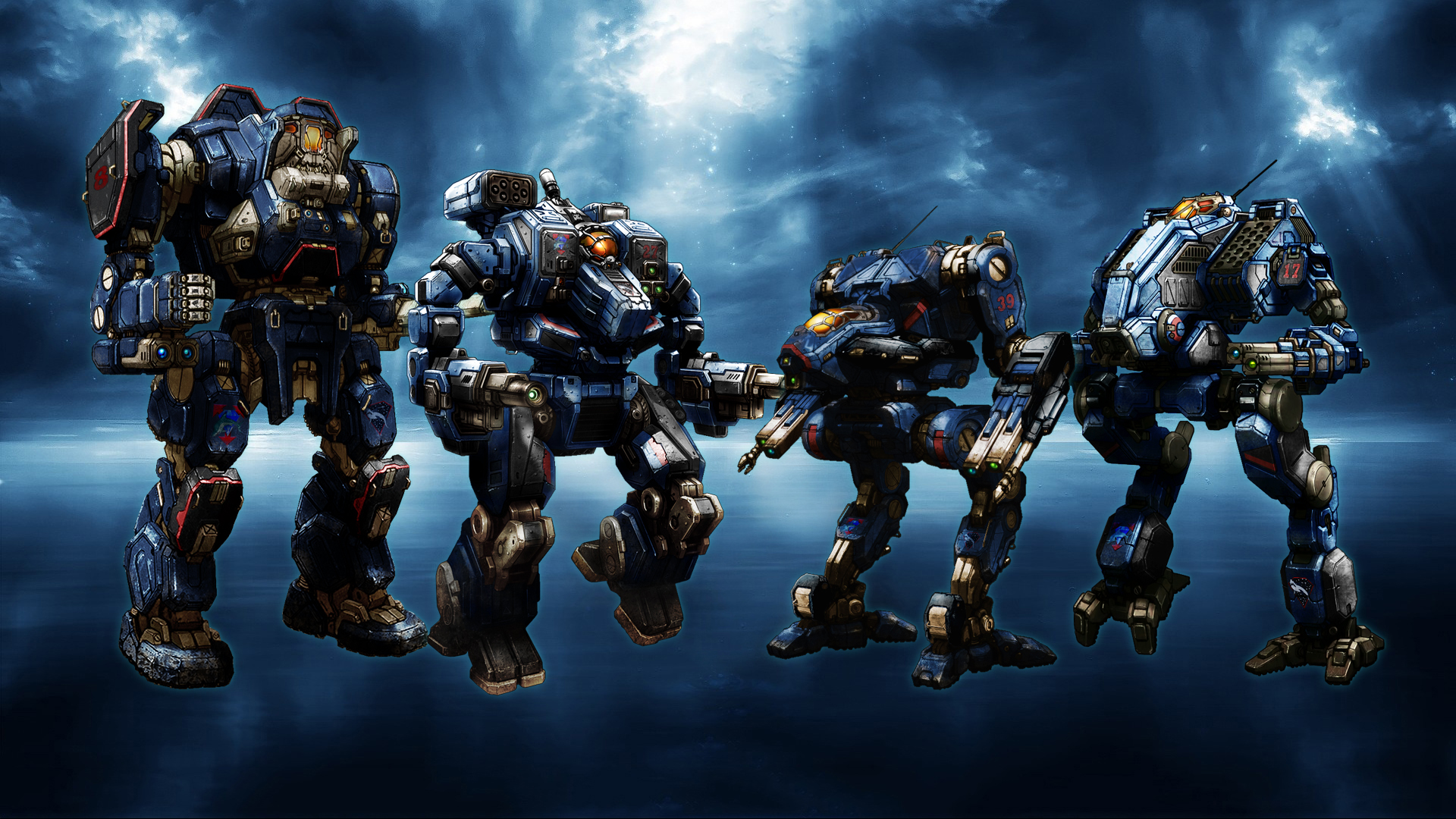 MWO Diamond Shark mechs by Odanan 1920x1080