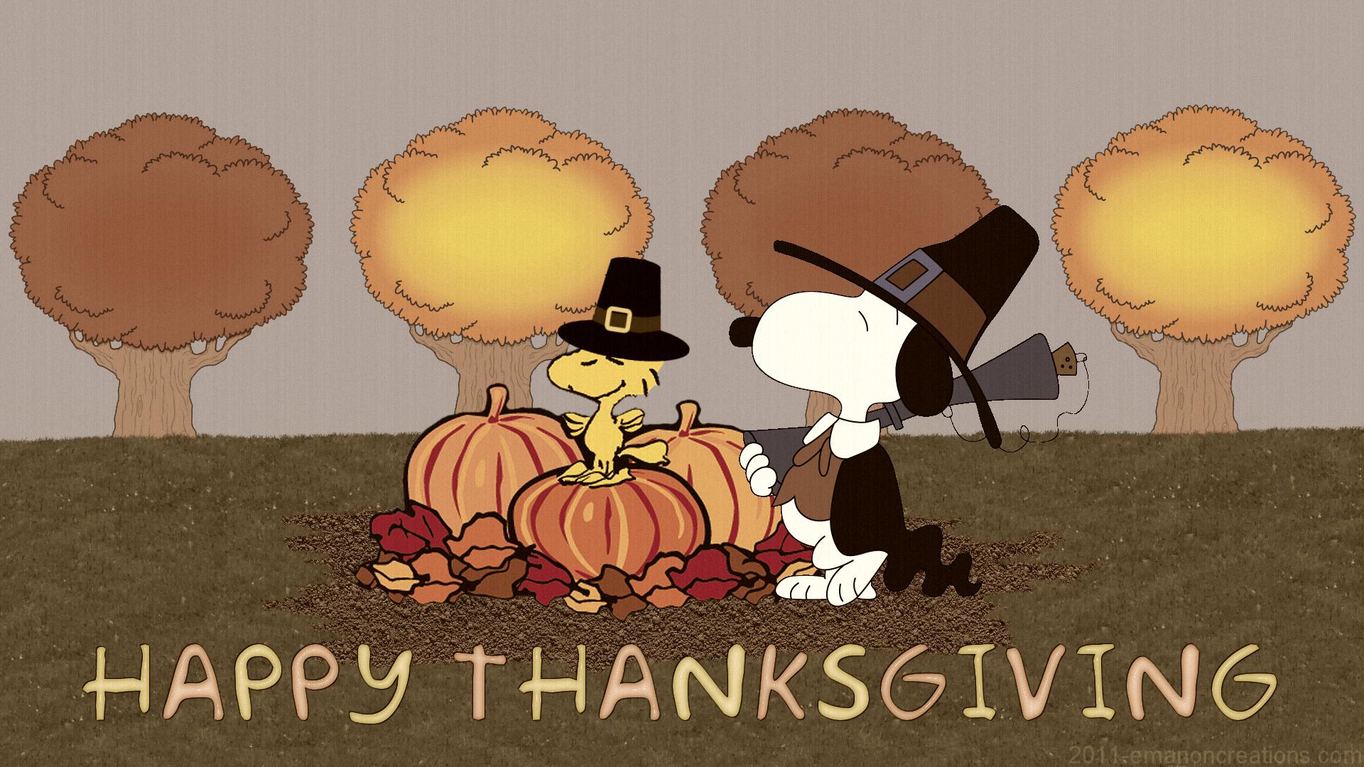 Snoopy Thanksgiving High Quality HD Wallpaper Desktop 1920x1080