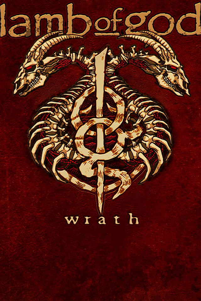 Lamb Of God Wrath Album American Metal Band HD Red Wallpapers for 640x960