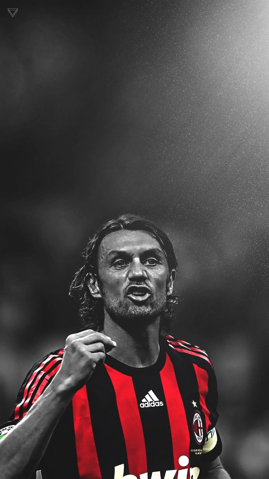 Paolo Maldini iPhone Wallpaper by sam4saken 1024x1821