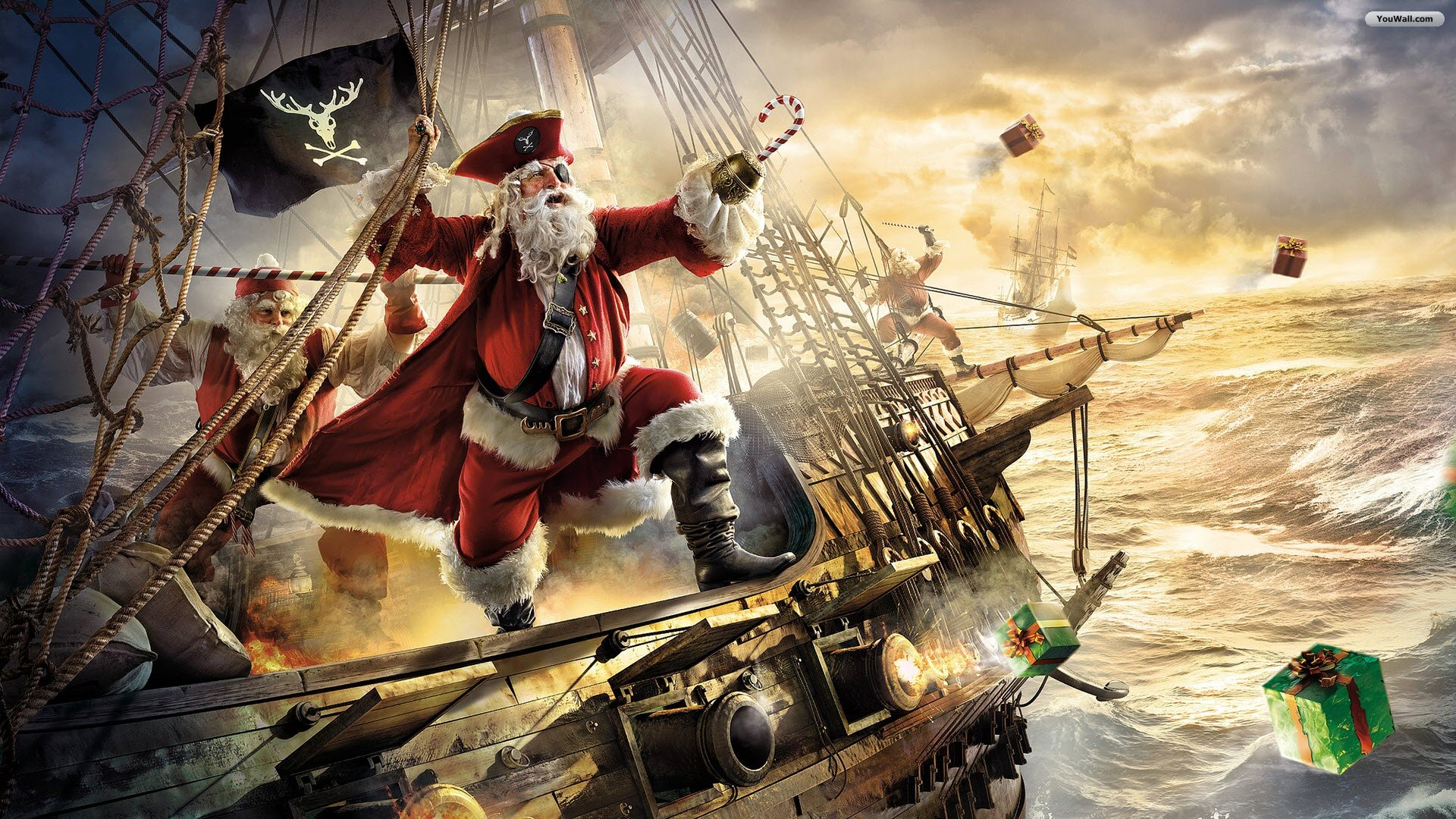 as desktop wallpaper santa claus pirate wallpaper 1920x1080 612 kb