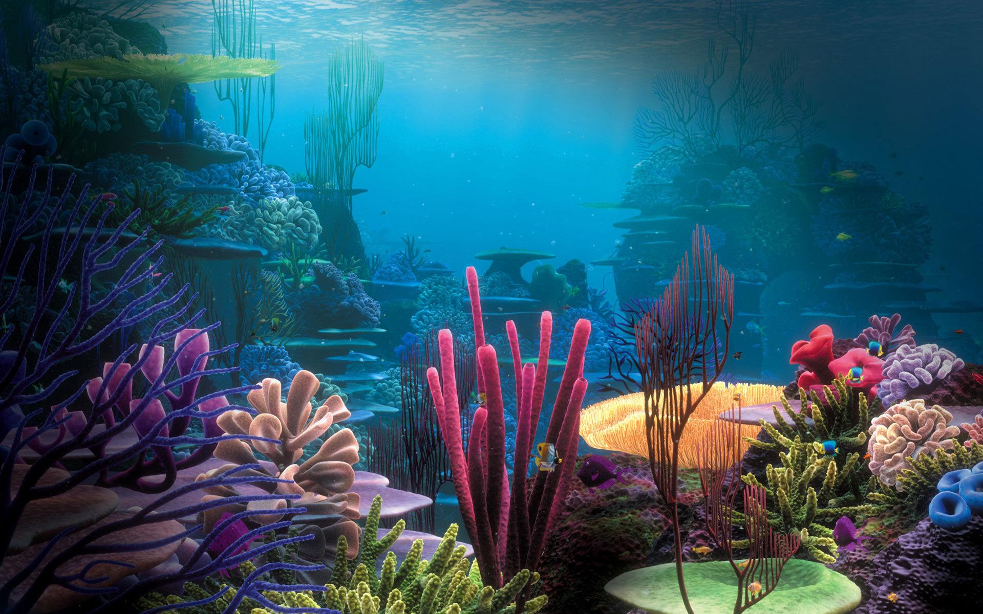 Sea underwater coral ocean fantasy wallpaper 1920x1200 153323 1920x1200