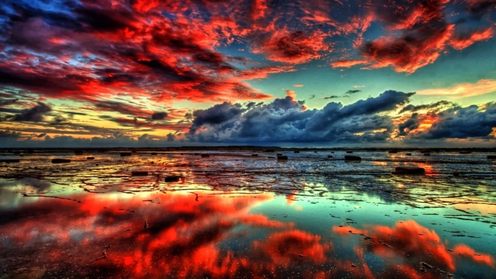 Red Clouds Nature 4K Wallpapers 4K Wallpaper 1600x900