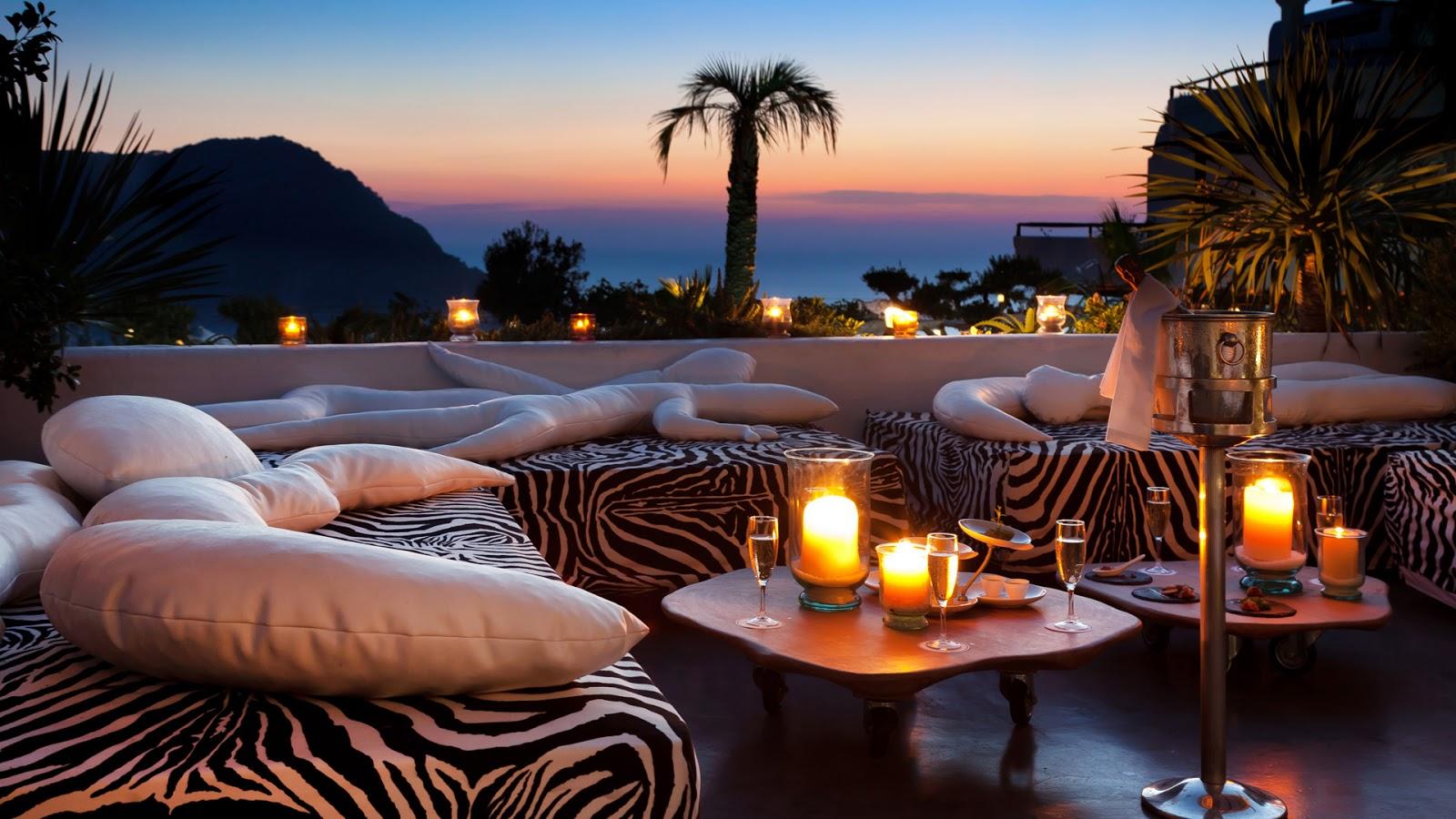 Ibiza Hacienda Hotel   Lounge Bar Sunset Wallpaper 1600x900