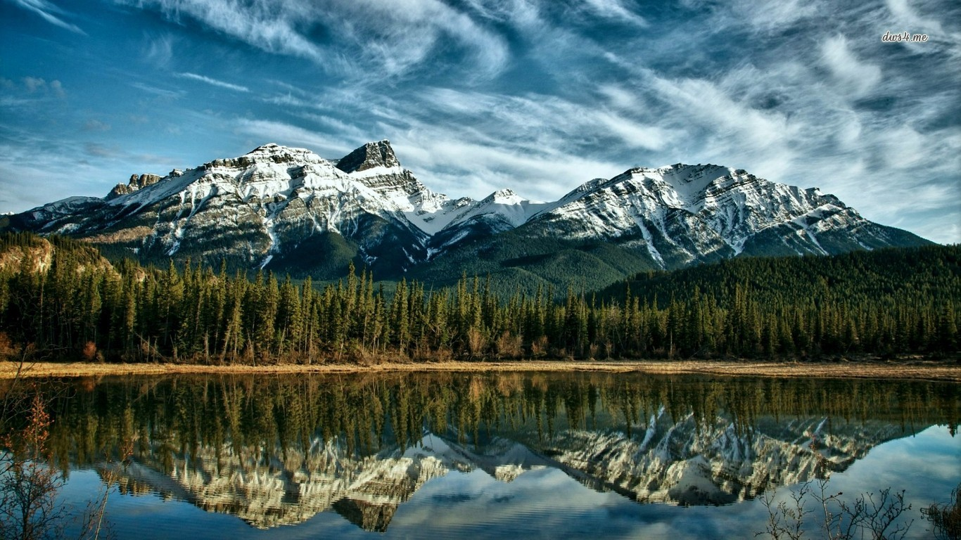 Canadian Rockies wallpaper   Nature wallpapers   13994 1366x768