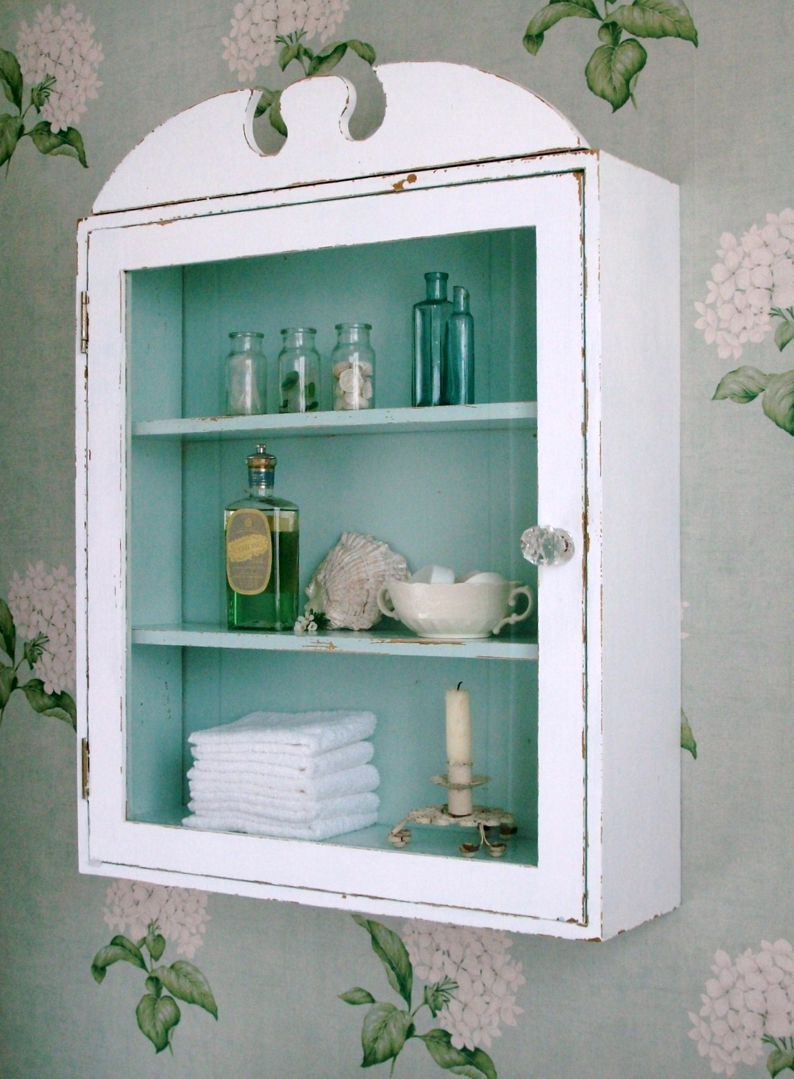 The Fishermans Cottage shared this shabby chic bathroom cabinet 1150x1564