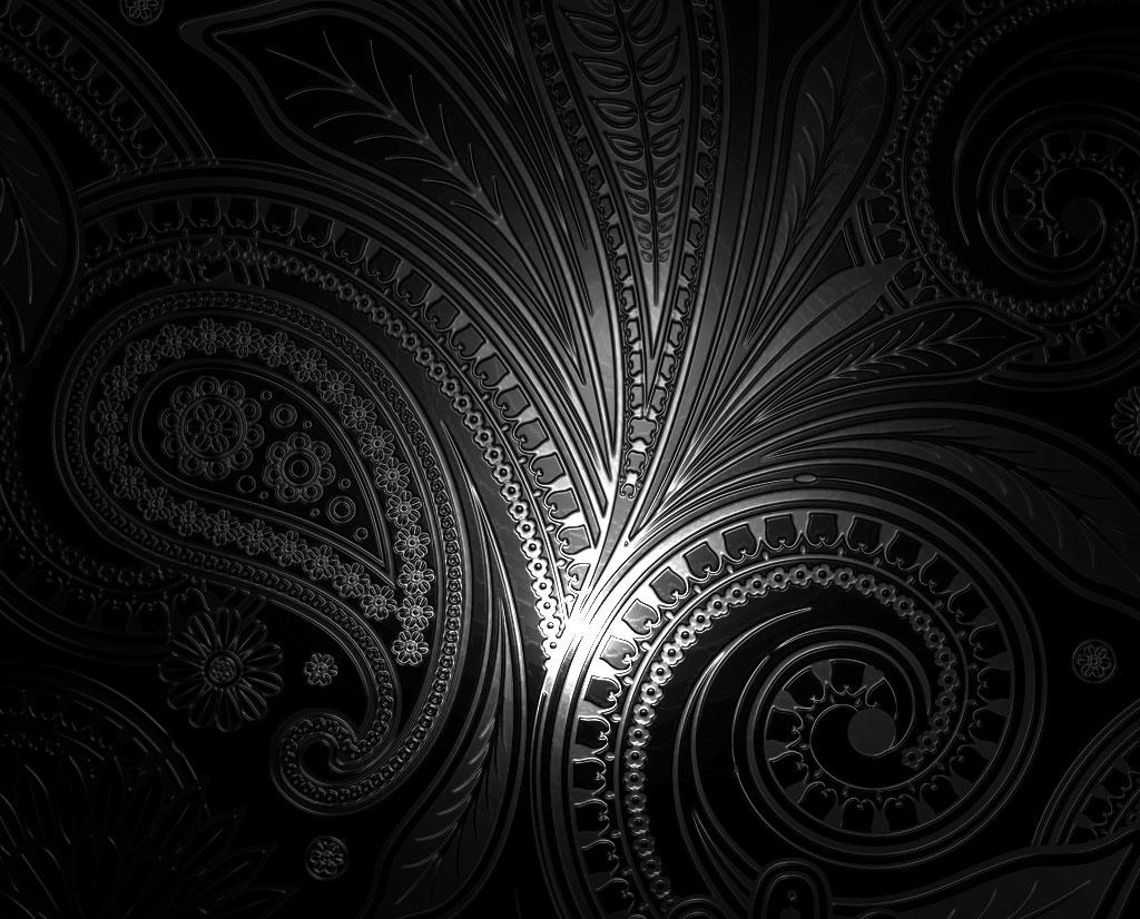 Black White Red Kitchen Wallpaper