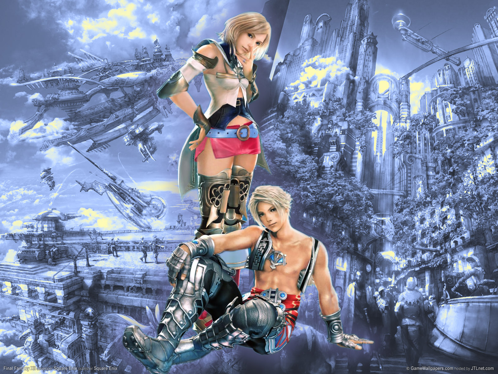 Final Fantasy wallpaper with a beautiful blonde girl 1600x1200