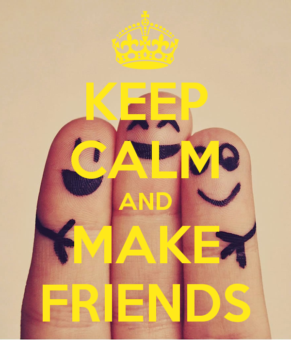 KEEP CALM AND MAKE FRIENDS   KEEP CALM AND CARRY ON Image Generator 600x700