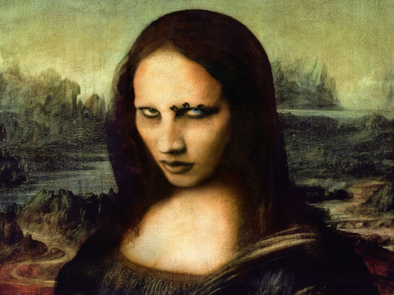 Mona Lisa Scary Mona lisa wallpaper 1600x1200 1600x1200