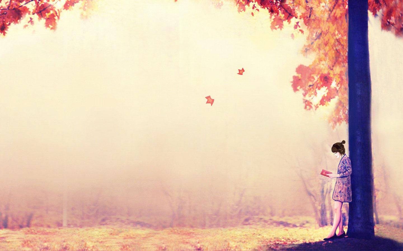 Autumn beautiful anime wallpaper comics desktop background Cartoon 1440x900