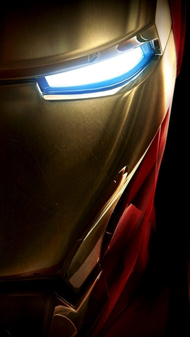 Ironman Half Face iPhone 5 Wallpaper 640x1136 640x1136