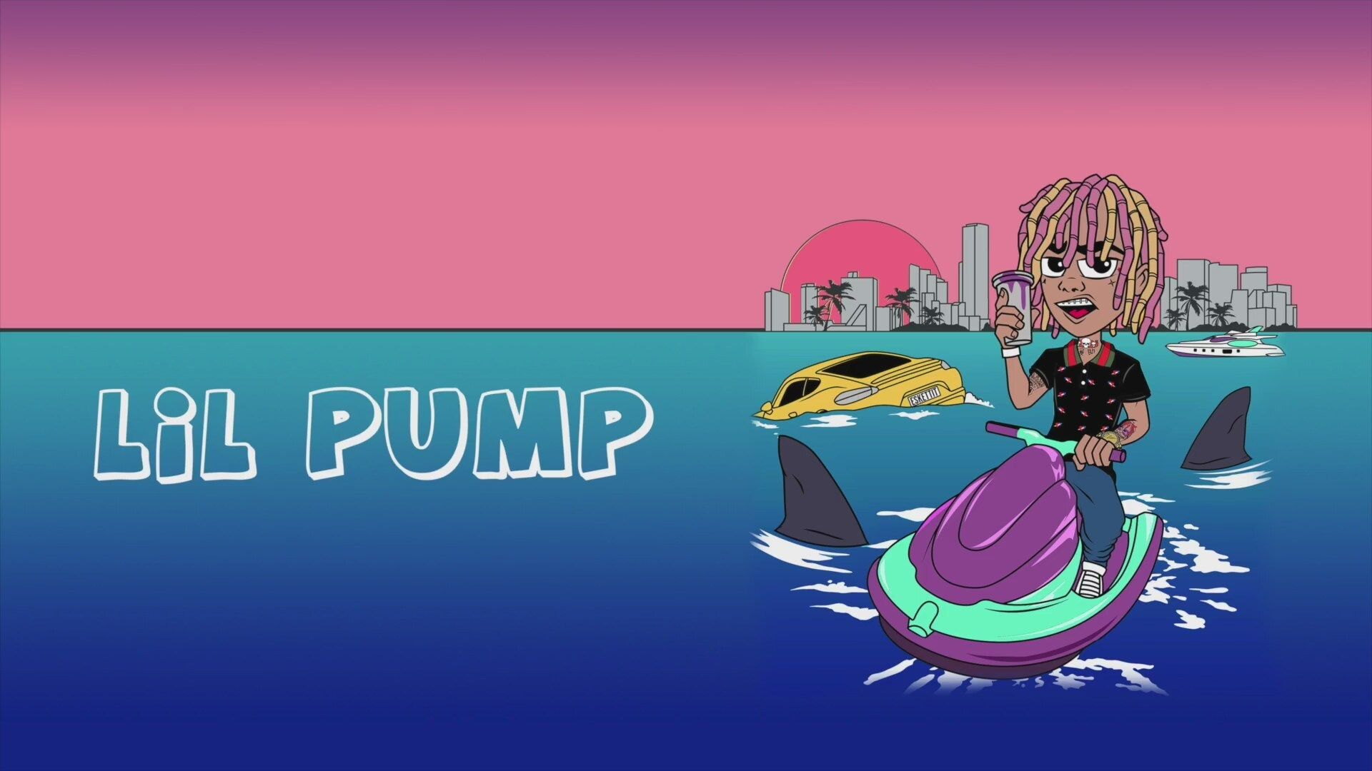 Lil Pump Cartoon Wallpapers   Top Lil Pump Cartoon 1920x1080