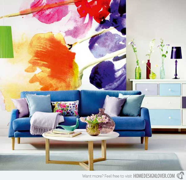 Bold Floral Living Room 600x580
