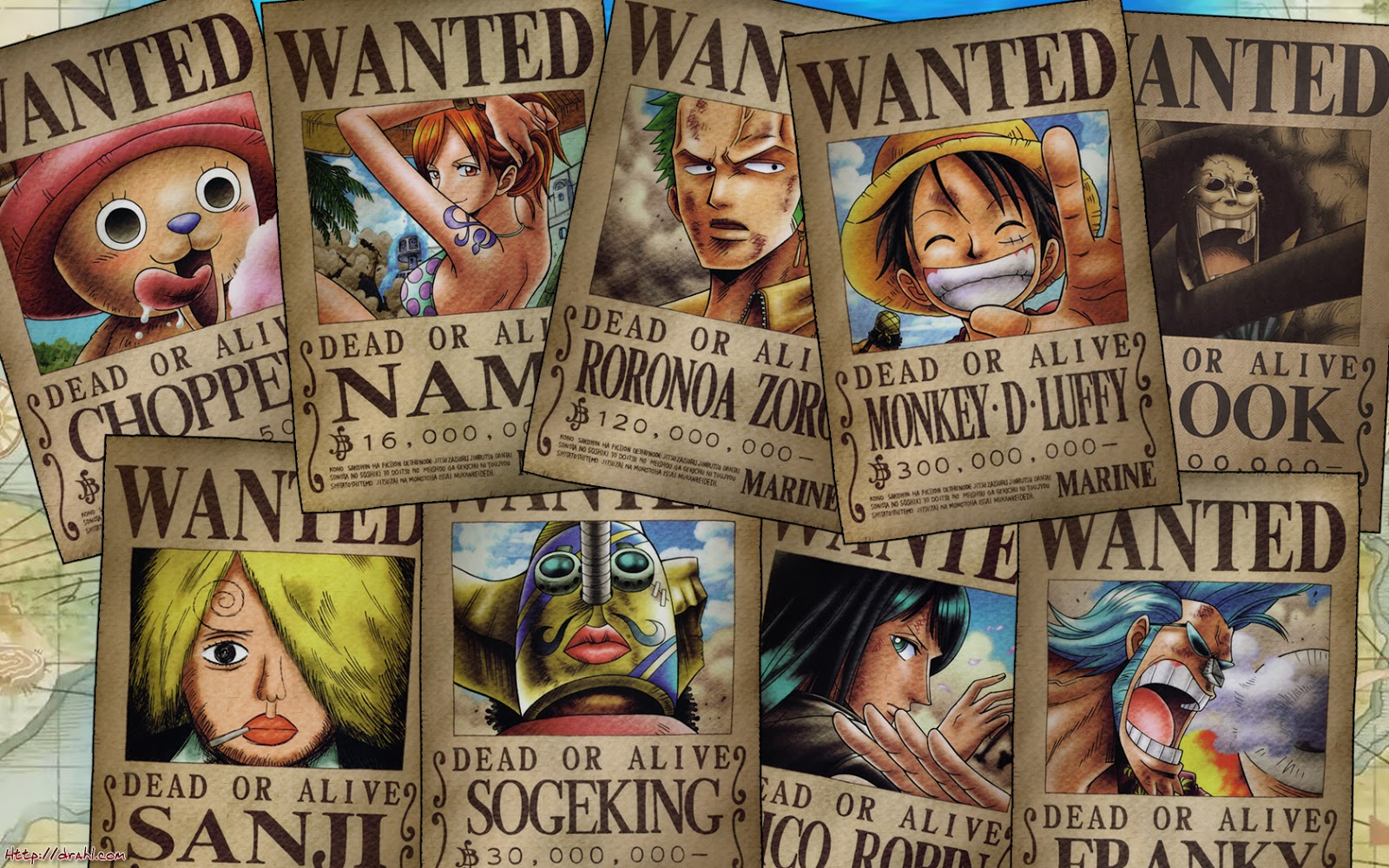 Straw Hat Pirate Wanted Poster 1600x1000