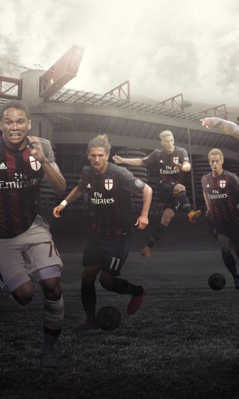 AC Milan 20152016 Wallpaper   Football Wallpapers HD 480x800