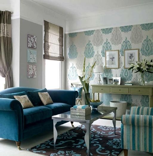 Contoh Gambar Wallpaper Dinding Untuk Ruang Tamu Sempit Rumah Idaman 513x525