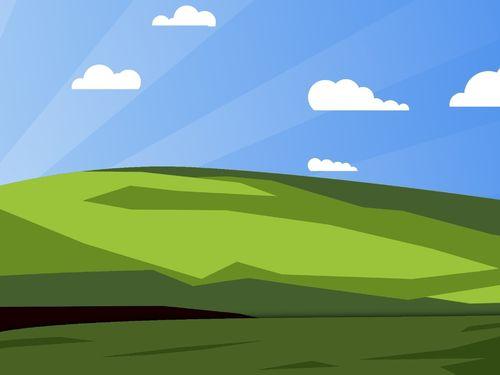 Simplified Classic Windows Desktop wallpaper for Nokia X2 500x375