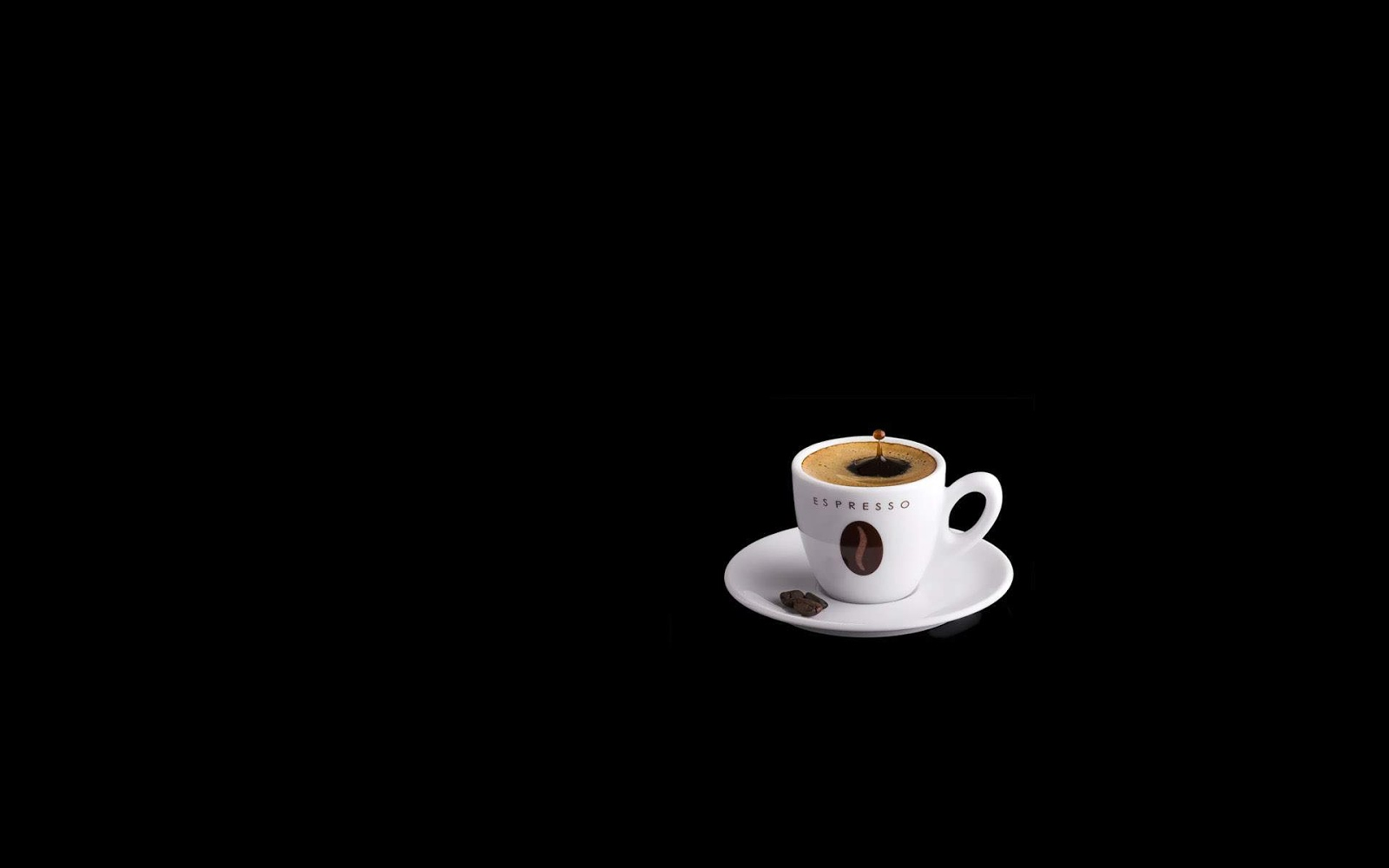 Black and White Wallpapers White Coffee Cup on Black 1600x1000