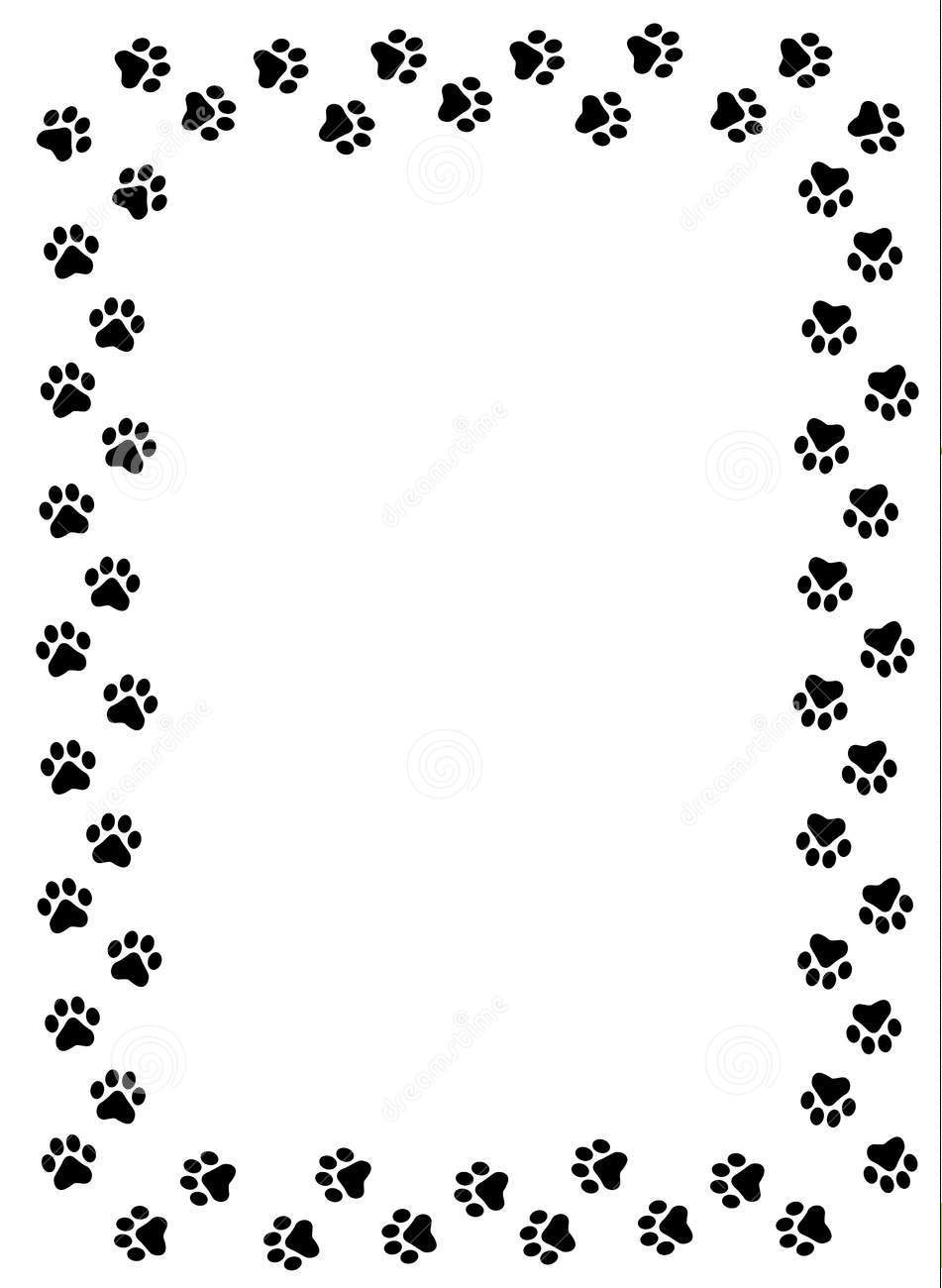 cat paw clipart hd dog paw border clipart cats wallpaper hd image 951x1300