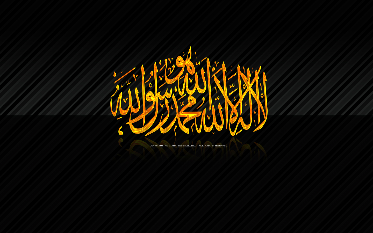 free islamic wallpaper 2011 2012 HD 1440900 english pc black gold 1440x900