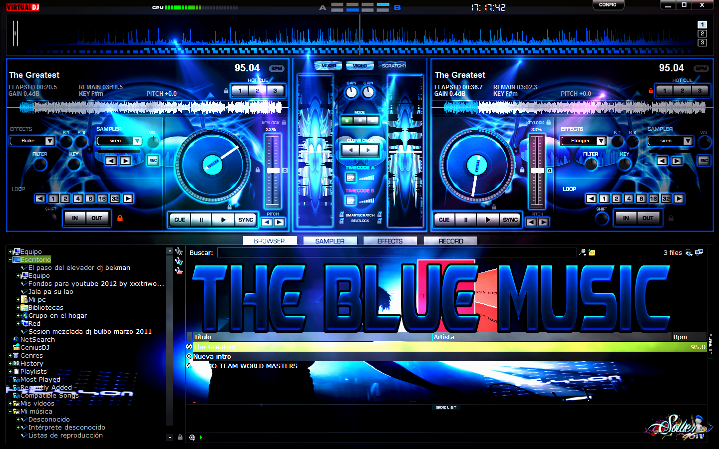 Free download SKIN THE BLUE MUSIC FOR VIRTUAL DJ By SOWER96