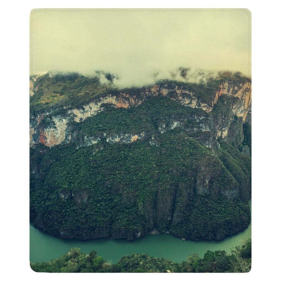 Sumidero Canyon River Gorge Fleece Throw WallsNeedLove 900x900