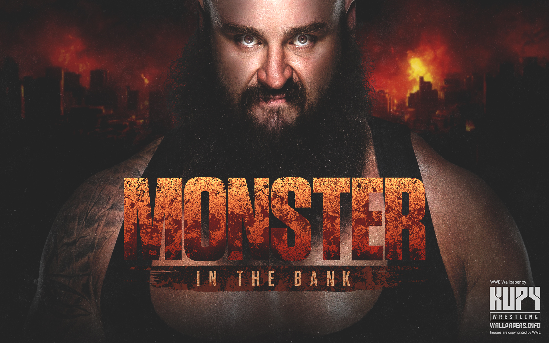 Monster In The Bank Braun Strowman wallpaper   Kupy Wrestling 1920x1200