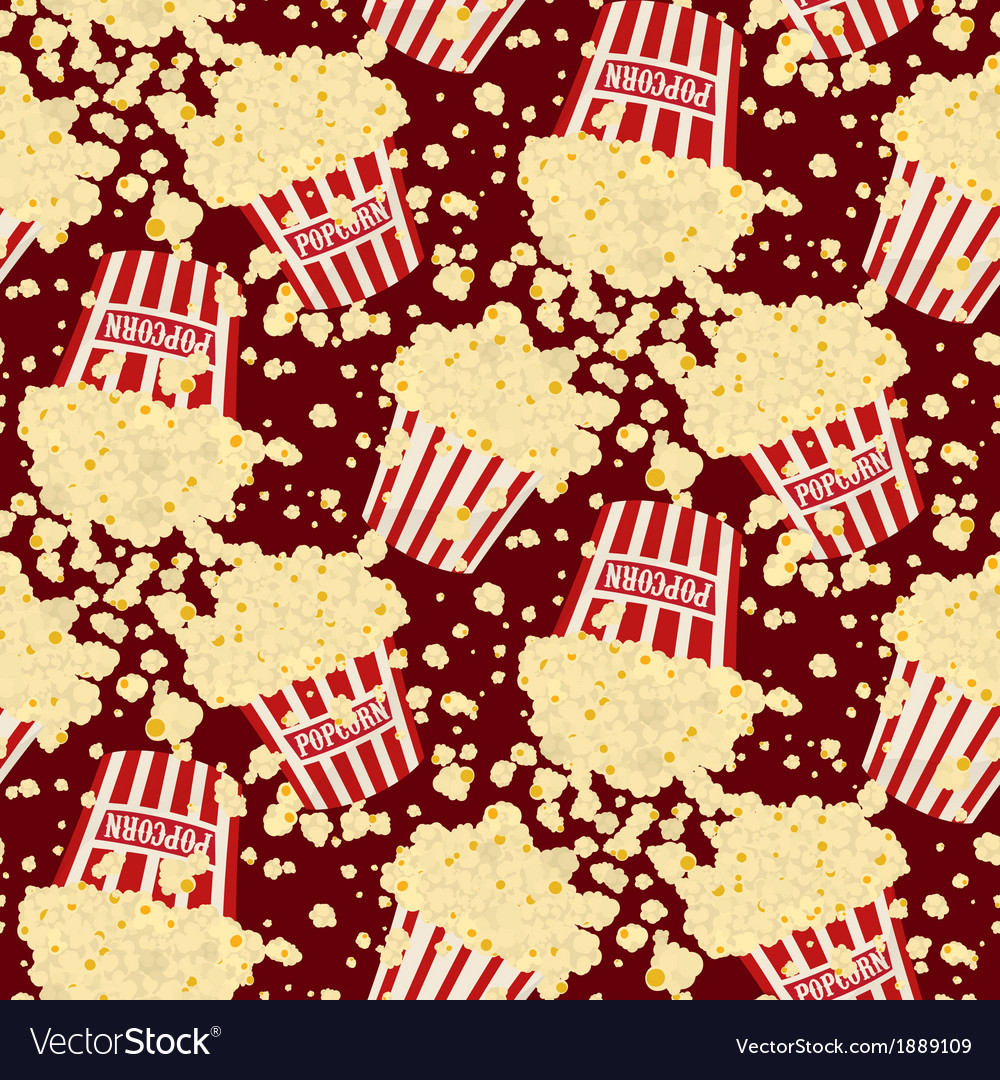 Seamless popcorn bag background Royalty Vector Image 1000x1080
