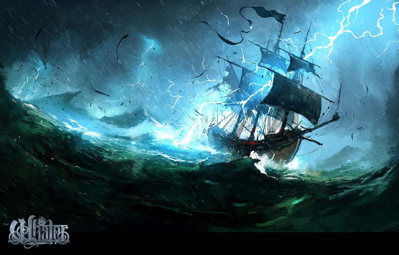 Wallpaper wave storm zipper ship The Whaler Natures Wrath 1332x850