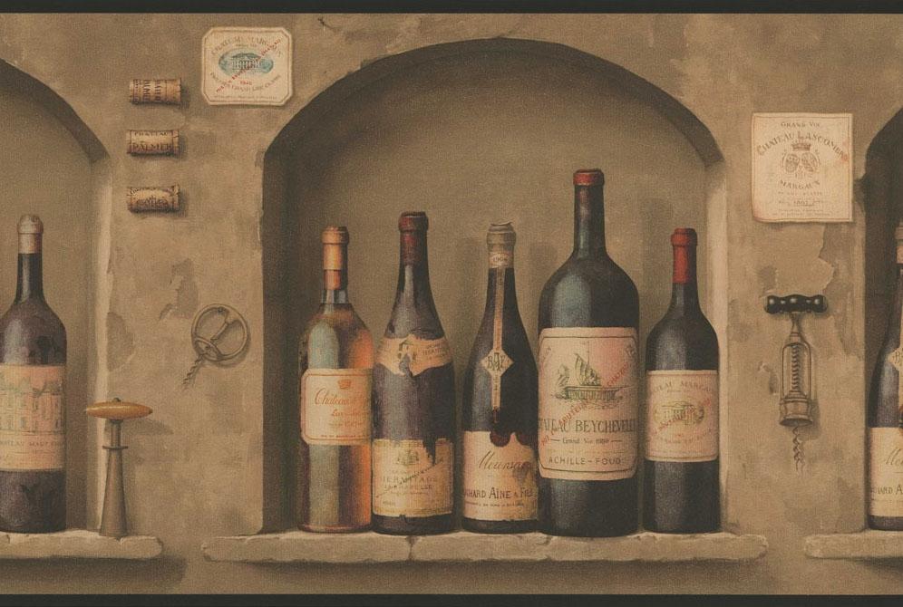 Wine Themed Wallpaper Borders Wallpapersafari