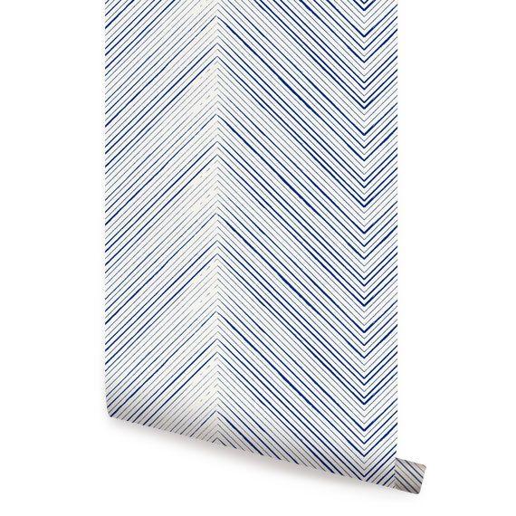 Fabric Wallpaper Repositionable Wallpapers Reposit Navy Wallpapers 570x570