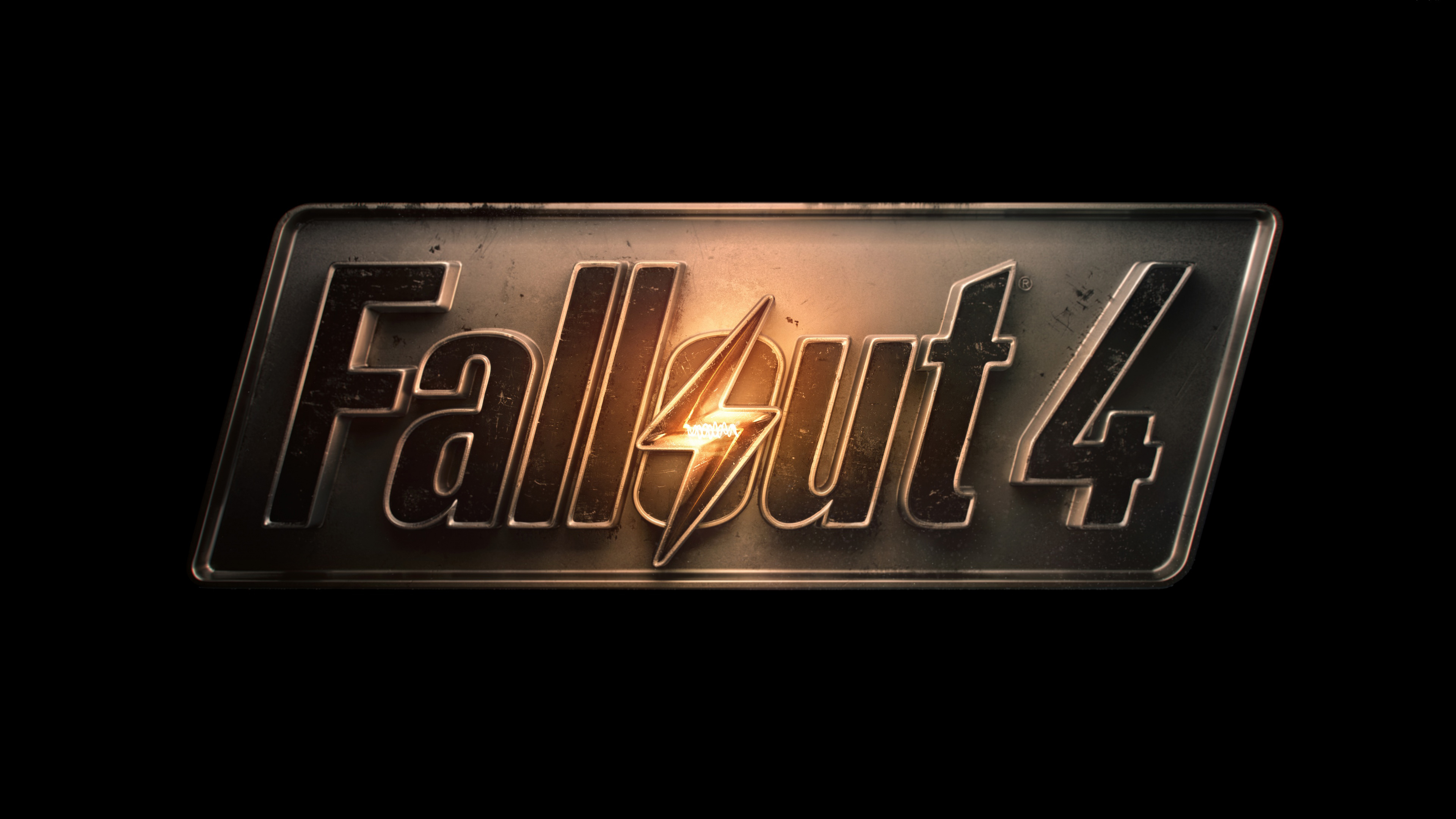 Fallout 4 Game Logo Ultra HD Wallpaper 3840x2160