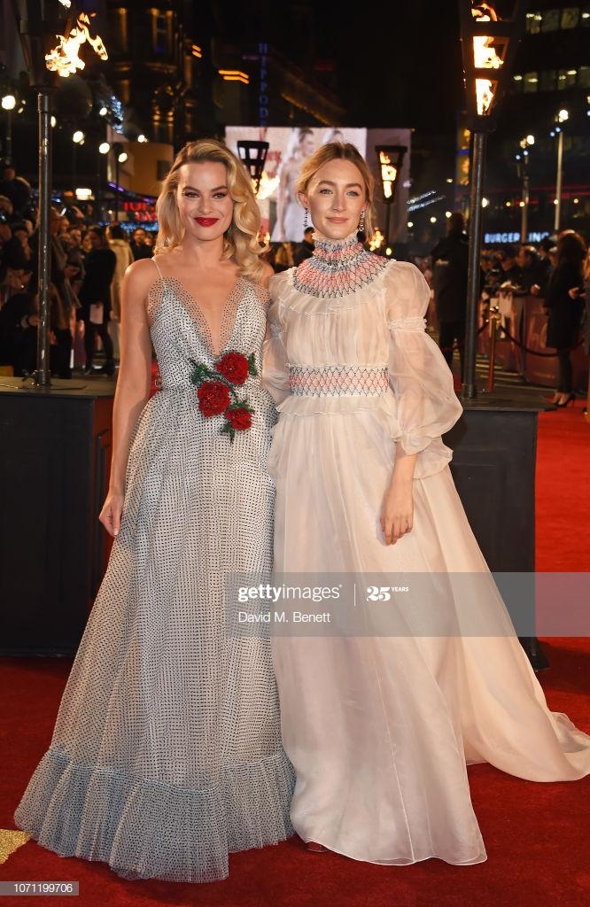 Margot Robbie and Saoirse Ronan attend the European Premiere of 666x1024